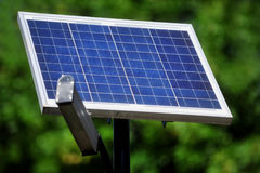 Illuminazione pubblica fotovoltaica Fotografie Stock