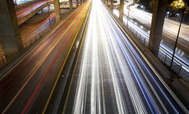 Illuminazione stradale alla notte Immagini Stock Libere da Diritti