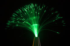 Illuminazione verde Fotografie Stock Libere da Diritti