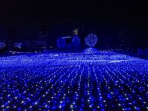 Illuminazioni al Midtown di Tokyo fotografie stock libere da diritti