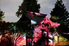 Illuminazioni del tempio di notte - kodai-ji Immagini Stock Libere da Diritti