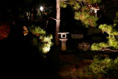 Illuminazioni del tempio di notte - Shoren-in Immagini Stock Libere da Diritti