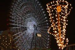 Illuminazioni della ruota panoramica fotografie stock libere da diritti