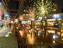 Illuminazioni di inverno in Korakuen fotografie stock