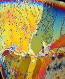 Illumini sui cristalli di ghiaccio Fotografia Stock Libera da Diritti