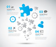 Illus de vecteur de brochure d'options d'affaires d'Infographic Images stock