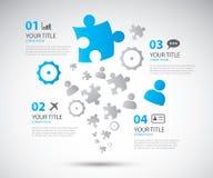 Illus di vettore dell'opuscolo di opzioni di affari di Infographic Immagini Stock