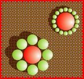 Illusie (groottewaarneming). Vector Illustratie