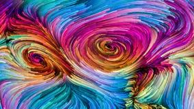 Illusie van Kleurrijke Verf stock illustratie