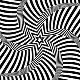 Illusie van omwentelingsbeweging Sterpatroon De textuur van lijnen stock illustratie