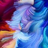Illusie van Vloeibare Kleur stock illustratie