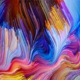 Illusie van Vloeibare Kleur Stock Afbeelding