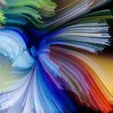 Illusie van Vloeibare Kleur vector illustratie