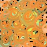 Illusie van zacht licht, spiraal Vage textuur als achtergrond van gele cirkels en lichte abstractie voor een druk stock illustratie