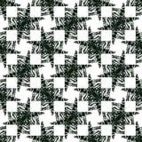 Illusieachtergrond Abstracte zwart-wit naadloos Royalty-vrije Stock Afbeelding