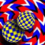 Illusievector Optisch 3d Art. Omwentelings Dynamisch Optisch Effect Wervelingsillusie Waanidee Bont Beweging verbeelding stock illustratie