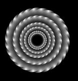 Illusion. Spiral illusion in black background Stock Photography