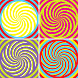 Illusion. Set of four bright hypnotic Poster stock illustration