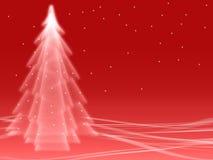 Illusion abstraite de rouge de l'hiver Image libre de droits