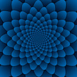 Illusion art abstract flower mandala decorative pattern blue background square. Abstract flower mandala decorative pattern blue background square illusion art Royalty Free Stock Photo