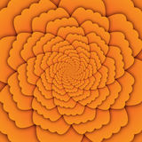 Illusion art abstract flower mandala decorative pattern yellow background square Royalty Free Stock Photos