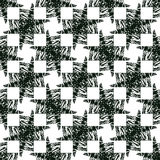 Illusion background. Abstract monochrome seamless Royalty Free Stock Image