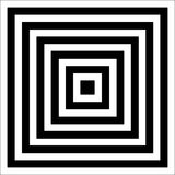 Illusion. With black and white color stock image
