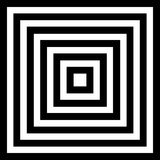 Illusion. With black and white colors royalty free illustration