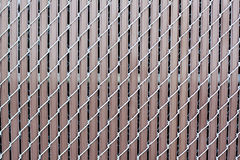 Illusion - Brown Metal Fence Stock Image