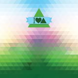 Illusion dawn of triangles. Abstract bright background of triangles. Geometric shapes. Place text on top Stock Images