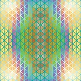 Illusion dawn of triangles. Abstract bright background of triangles. Geometric shapes. Place text on top Royalty Free Stock Images