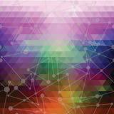 Illusion dawn of triangles Stock Image