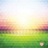 Illusion dawn of triangles Royalty Free Stock Photo
