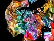 Illusion de fragmentation d'individu Images stock