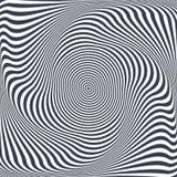 Illusion de torsion Conception abstraite illustration libre de droits