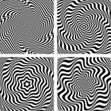 Illusion der gewellten Rotation und der Drehungsbewegung Lizenzfreie Stockfotografie