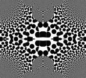 Illusion der T?uschung in Schwarzweiss Vibrierende Streifen Tr?gerische Vision lizenzfreie abbildung