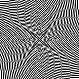 Illusion du mouvement de rotation Fond abstrait d'art op Images libres de droits