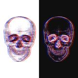 Electro Skull. Illusion. Electro skull. Hand-drawn style stock illustration