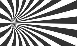 Illusion en spirale de tunnel de vecteur Fond rayé de tunnel de mouvement de vortex illustration stock