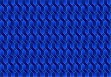 Illusion för modellbakgrundsblått, abstrakt begrepp, geometri Arkivbild