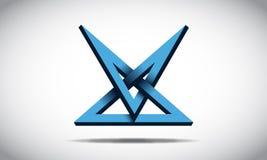 Illusion Logo Design illustration stock