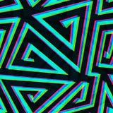 Illusion maze seamless pattern. (eps 10 vector file vector illustration