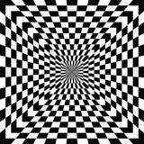 Illusion optique à carreaux Photo libre de droits