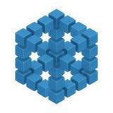 Illusion optique illustration de vecteur