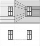 Illusion optique illustration stock