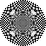 Illusion optique, cercle Photographie stock