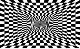 Illusion optique fraîche perspective Un point dans le noir illustration stock