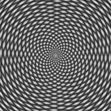 Illusion optique, noire et blanche Images stock