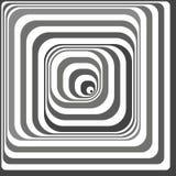 Illusion optique noire et blanche Images libres de droits